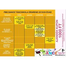 PMS Dance Tánciskola és Hip-Hop Táncszínház: órarend