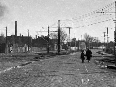 A Dózsa György út 1960-ban (fotó: Fortepán)