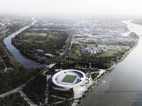 A tervezett atlétikai stadion (forrás: NAPUR Architecht)