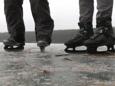 Veszélyes a jégre menni!