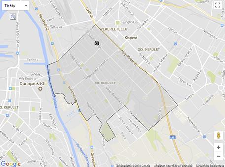 budapest 20 kerület térkép XX. kerület   Pesterzsébet | Villanyoszlopnak ütközött egy autó a  budapest 20 kerület térkép